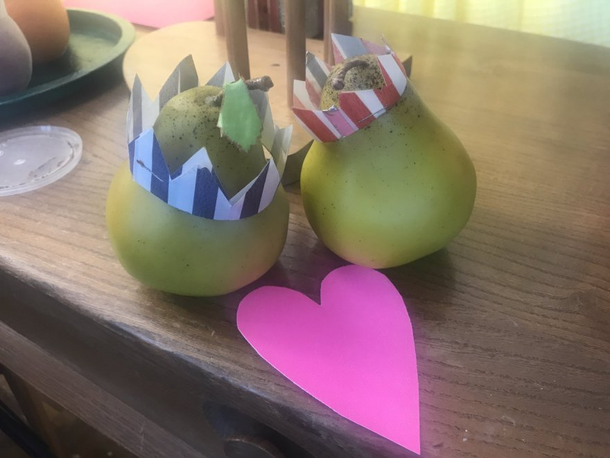 Mr & Mrs Pear get romantic on Valentines day. Submitted by Maris Piper